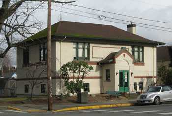 Historic Carnegie Library in Burlington Washington