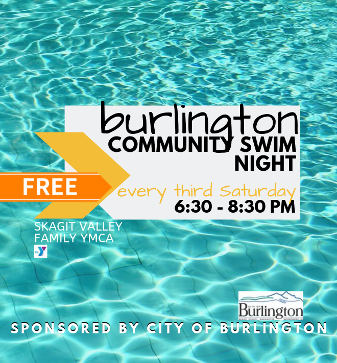 Swim night graphic - turquoise pool waters as background