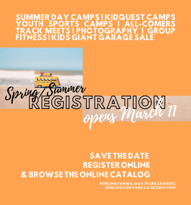 summer registration opens March 11, 2020